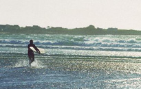 Surfing at Vazon