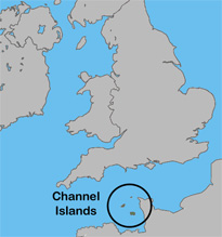 Location of the Channel Islands